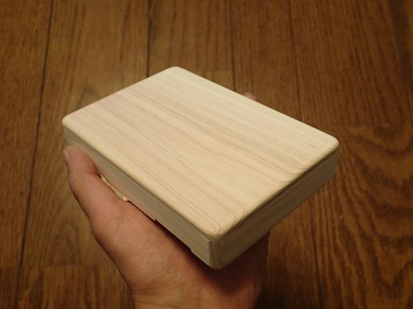 箱ができあがった後、天板をあてがって12の辺にRをつけます