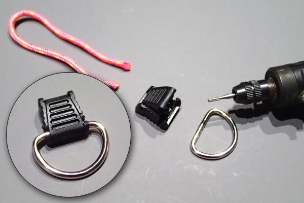 コードエンドストッパーを細工してDカンを一体化