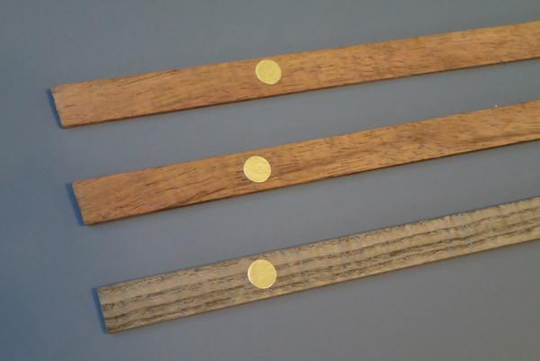 ハワイアンコア(上2本)と神代ニレ(下)のフレーム材をゲットです
